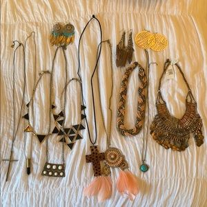 Coachella Boho Jewelry Bundle (10 necklaces)